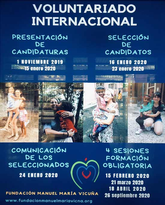 Fundación Manuel María Vicuña impulsando el Voluntariado Internacional.